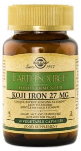 Solgar Earth Source Food Fermented Koji Iron