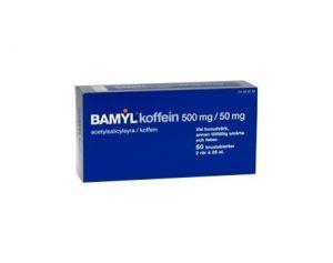 Bamyl koffein, brustablett 500 mg/50 mg